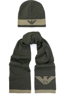 Комплект из шапки и шарфа Armani Junior