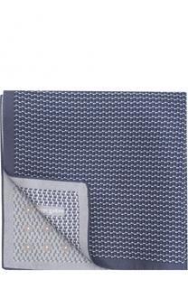 Шелковый платок с принтом Ermenegildo Zegna