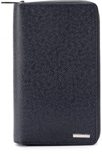 Кожаный бумажник на молнии с отделениями для кредитных карт и монет BOSS