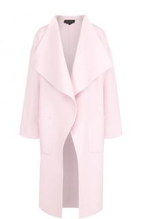 Пальто прямого кроя с накладными карманами St. John