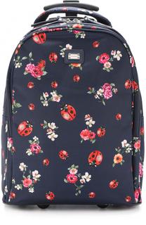Текстильный чемодан с принтом Dolce & Gabbana