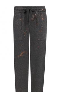 Укороченные брюки прямого кроя с эластичным поясом Deha