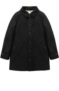 Однобортное пальто прямого кроя Burberry
