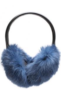 Наушники из меха кролика Yves Salomon