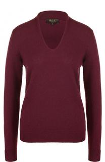 Кашемировый пуловер с V-образным вырезом Loro Piana