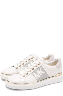 Кожаные кеды Max на шнуровке MICHAEL Michael Kors