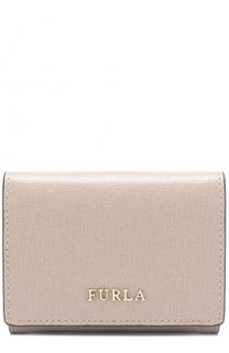 Кожаный кошелек с логотипом бренда Furla
