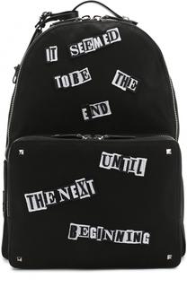 Текстильный рюкзак с нашивками Valentino