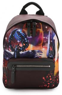 Текстильный рюкзак с принтом Lanvin