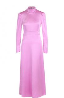 Платье с завышенной талией и воротником-стойкой Valentino