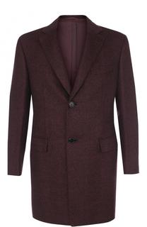 Однобортное пальто из смеси шерсти и кашемира Brioni