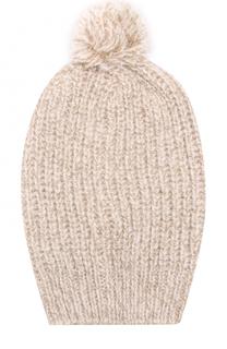 Вязаная шапка с помпоном и отделкой металлизированной нитью Deha