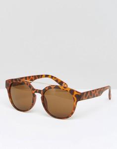 Квадратные солнцезащитные очки Jeepers Peepers - Коричневый