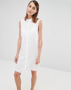 Платье-рубашка без рукавов Selected Crissie - Белый