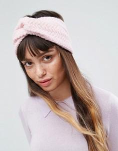 Вязаная повязка на голову ASOS - Розовый