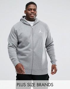 Серый флисовый худи Nike Jordan PLUS Flight 823064-091 - Серый