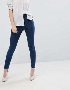 Выбеленные облегающие джинсы с завышенной талией ASOS RIDLEY - Синий