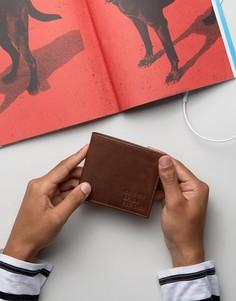 Кожаный бумажник Levis - Коричневый