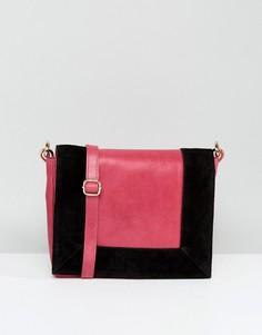Клатч с контрастным дизайном Urbancode - Розовый