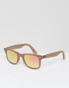 Солнцезащитные очки-вайфареры Ray-Ban 0RB4340 - Бежевый