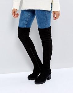 Сапоги-ботфорты на толстой подошве New Look - Черный