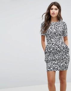 Платье-футляр мини с леопардовым принтом ASOS - Мульти