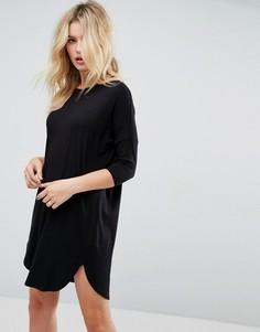 Платье-футболка оверсайз ASOS - Черный