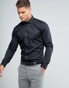 Узкая строгая рубашка Ted Baker - Черный