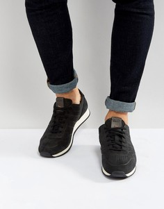 Черные кроссовки из нубука с вырезным узором BOSS Orange by Hugo Boss - Черный