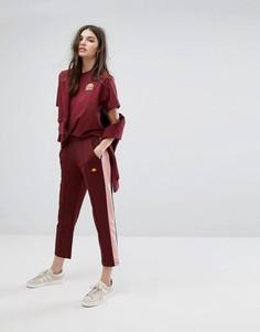 Спортивные штаны с полосками Ellesse - Красный