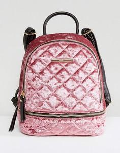 Миниатюрный бархатный рюкзак ALDO Adroiana - Розовый