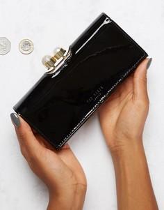 Лакированный кошелек с отделкой из искусственного жемчуга Ted Baker - Черный