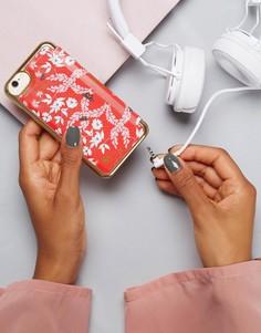 Флип-чехол для iPhone с цветочным принтом Ted Baker - Красный