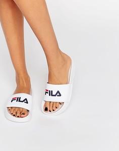 Шлепанцы с логотипом Fila Drifter - Белый