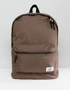 Серо-коричневый рюкзак из матового атласа ASOS - Серый