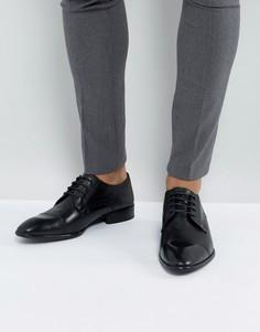 Черные кожаные дерби Base London Christie - Черный