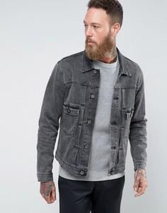 Черная джинсовая куртка с эффектом кислотной стирки Edwin E-Classic - Черный