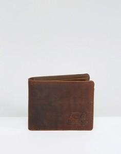 Кожаный бумажник с отделением для монет Herschel Supply Co. Hank - Коричневый