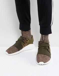 9e31ed9c19c1 Зеленые кроссовки adidas Originals Tubular Doom Primeknit BY3551 - Зеленый