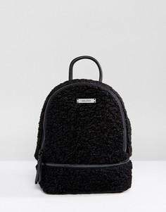 Мини-рюкзак из искусственной овечьей шерсти ALDO Anancoedo - Черный