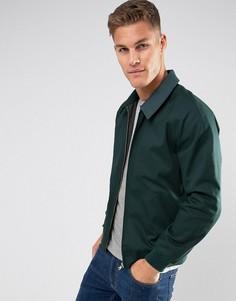 Темно-зеленая хлопковая куртка Харрингтон ASOS - Зеленый