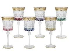 "Набор бокалов для вина ""Цветная Флоренция""  (6 шт) Same"
