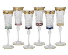 """Набор бокалов для шампанского """"Цветная Флоренция"""" (6 шт) Same"""
