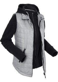 Жилетка с интегрированной флисовой курткой (серый) Bonprix