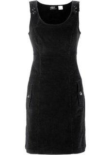 Вельветовый сарафан-стретч (черный) Bonprix