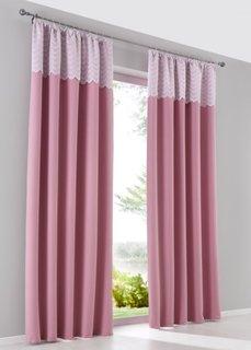 Затемняющая штора Анна (1 шт.), гофрированная тесьма (розовый) Bonprix