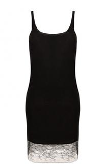Приталенное мини-платье с кружевной вставкой Raquel Allegra