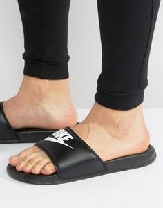 7a073da74f8f Черные шлепанцы Nike Benassi JDI 343880-090 - Черный