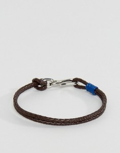 Синий двойной кожаный браслет Ted Baker - Синий