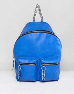 Рюкзак с надписями ASOS HERO - Синий